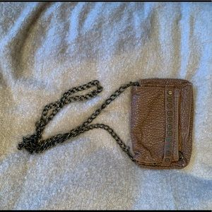 Urban Outfitters Vegan Leather Chain Crossbody Bag